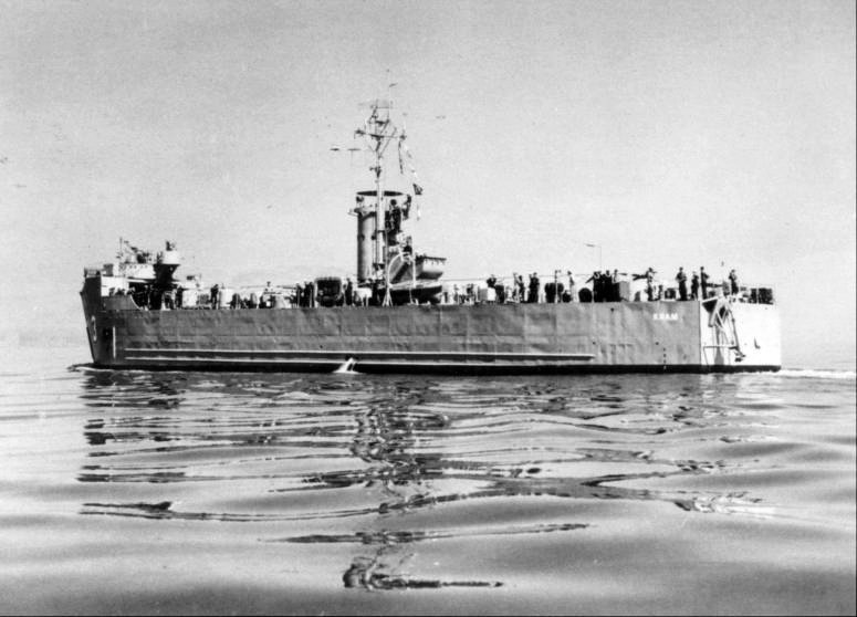 HTMS Khram on a glassy sea