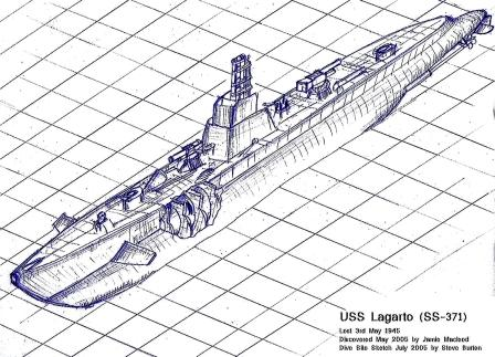 USS Lagarto on the bottom at 230ft. Summary of dives 1-4. by Steve Burton