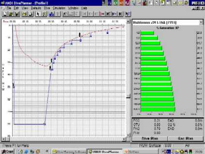 Screen Capture of the ANDI Diveplanner. Click for Hi-res 155KB