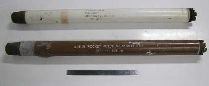 2.75inch Hyra Rocket. Practice round