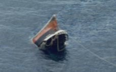 The Honduran oil tanker Playboy 3 sinking by the stirn after sustaining collision damage. The vessel was succesfully recovered.