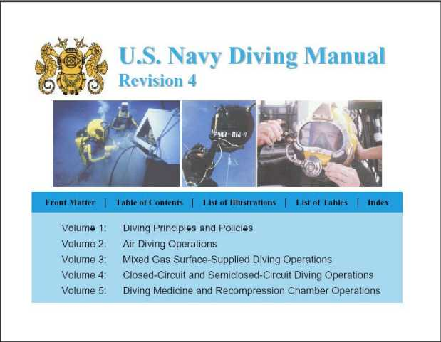 US Navy Diver Manual. 1000 pages of 'must read' diving theory for the wreck diving enthusiast. One of many programs available on the 'Amazing Thailand' diving program CD. See ordering instruction below.